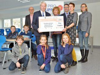 Ostendorf-Gymnasium über die Spende.