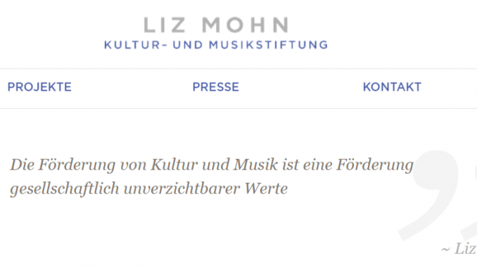 Screenshot Liz Mohn Kultur- und Musikstiftung
