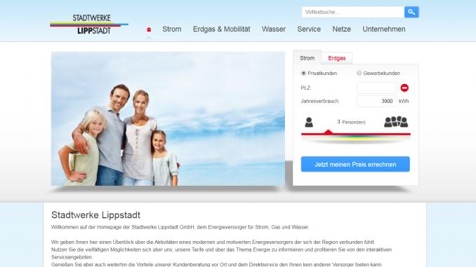 Screenshot Stadtwerke-Lippstadt