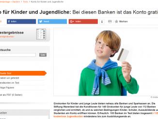Screenshot Konto für Kinder und Jugendliche 326x245 - Jugendgirokonten: Meist kostenlos – aber nicht alles inklusive