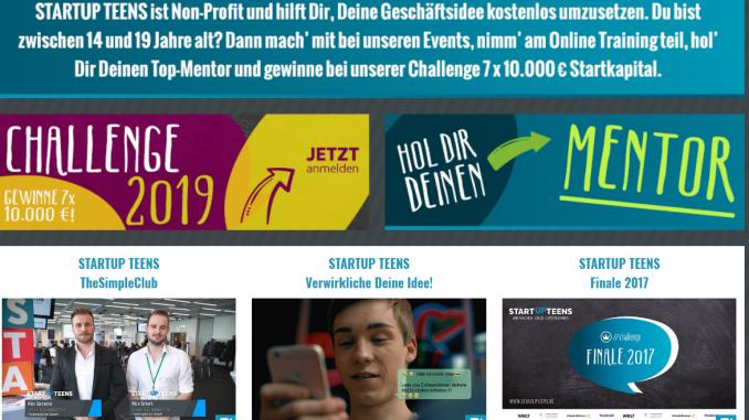 Screenshot STARTUP TEENS    https   www.startupteens.de  678x381 - Startup Teens-Event in Lippstadt